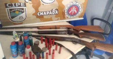 Cipe Chapada apreende armas em Igatu distrito de Andaraí – Ba
